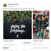 caveman chefs social media ad creative.p