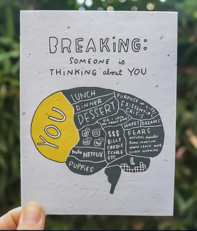 Thinking of You - Breaking Card