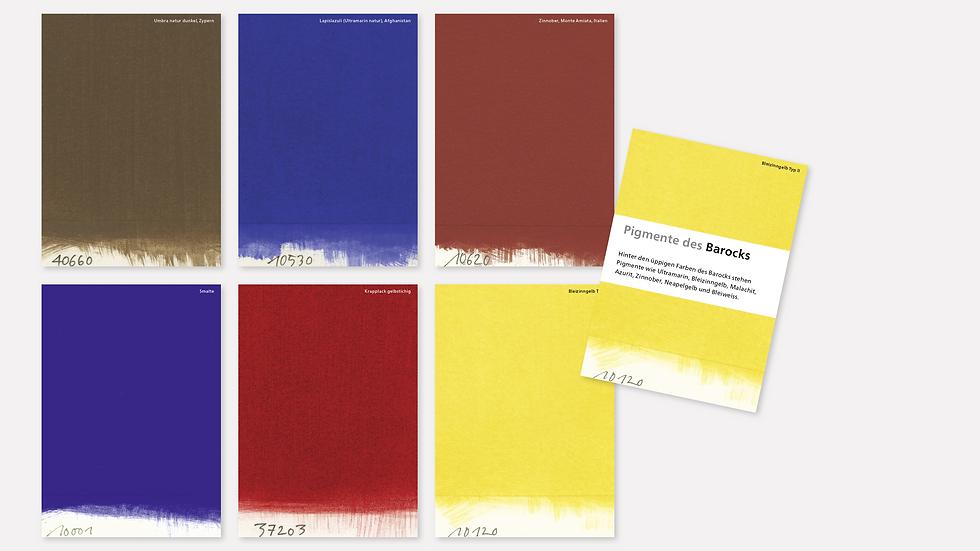 Postkartenset – Pigmente des Barocks