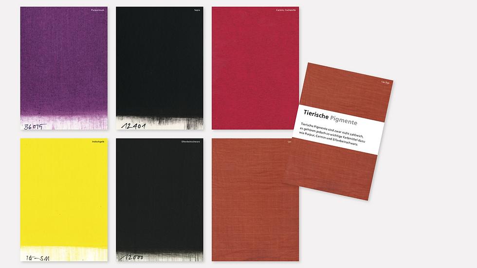 Postkartenset – Tierische Pigmente