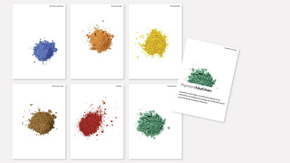 Postkartenset – Pigmenthäufchen