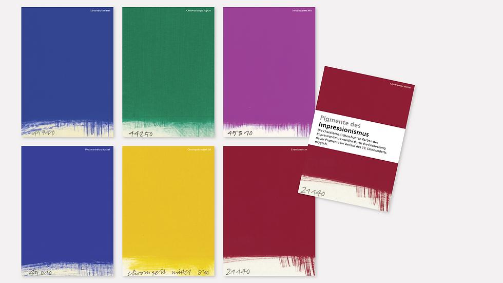 Postkartenset – Pigmente des Impressionismus