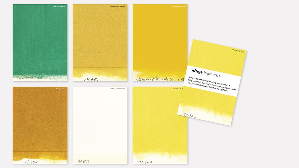 Postkartenset – Giftige Pigmente