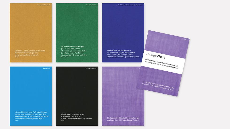 Postkartenset – Farbige Zitate