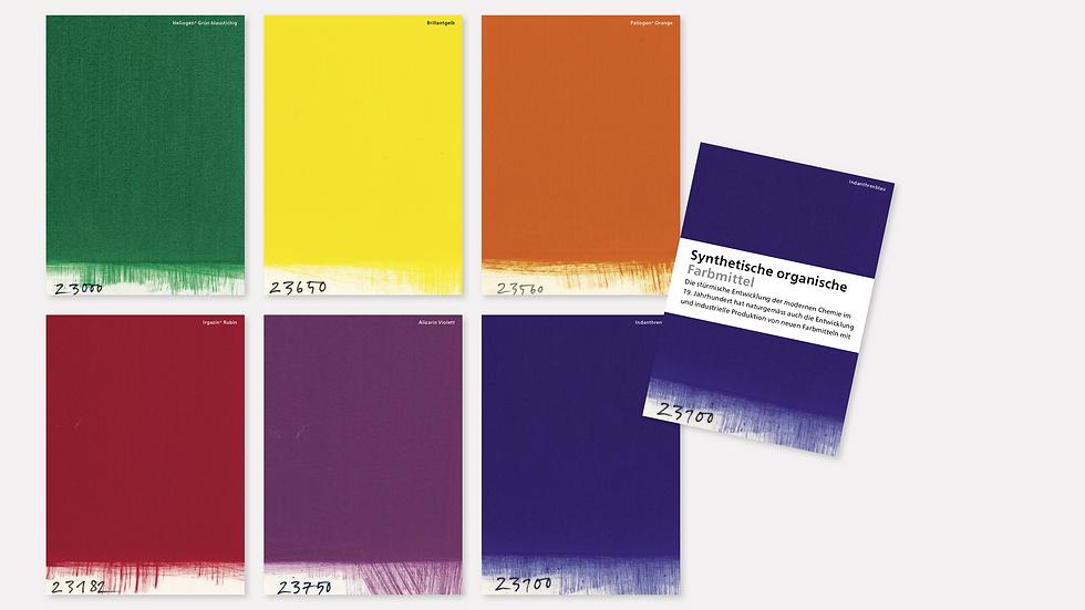 Postkartenset – Synthetische organische Farbmittel