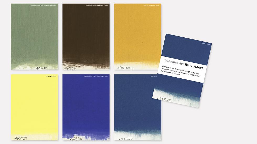 Postkartenset – Pigmente der Renaissance
