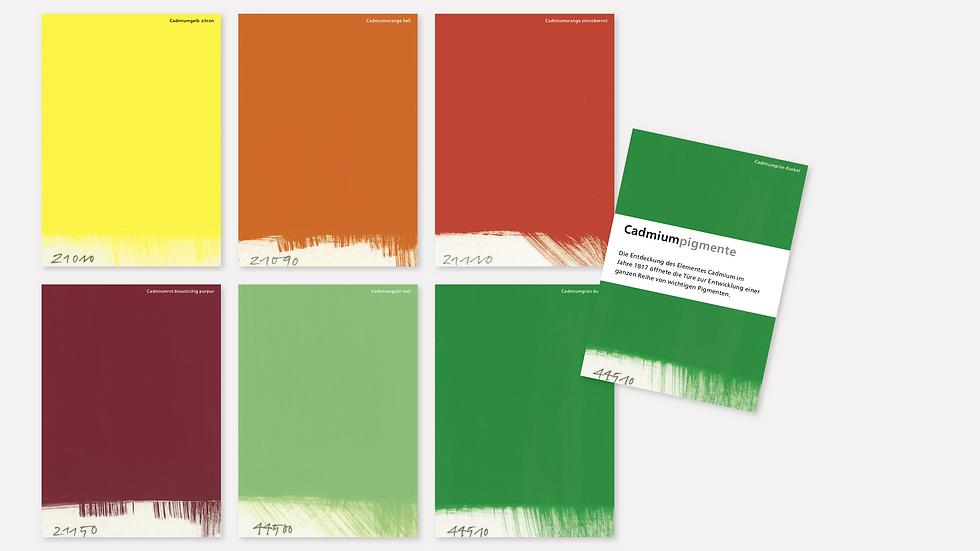 Postkartenset – Cadmiumpigmente