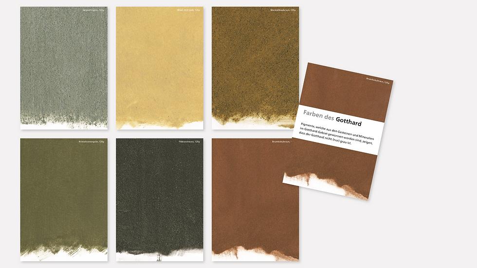Postkartenset – Farben des Gotthards