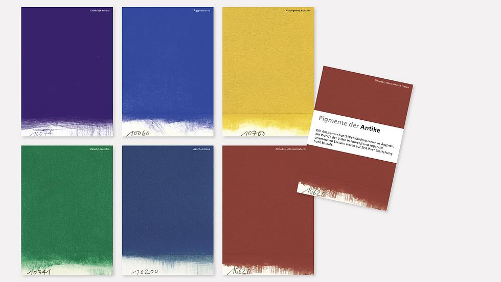 Postkartenset – Pigmente der Antike