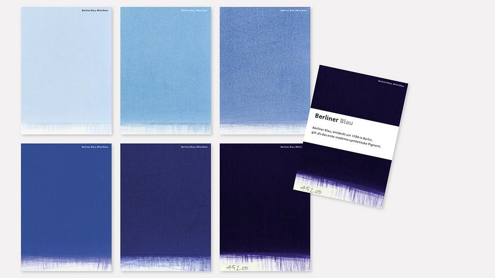 Postkartenset – Berliner Blau
