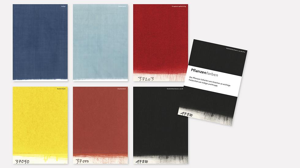 Postkartenset – Pflanzenfarben