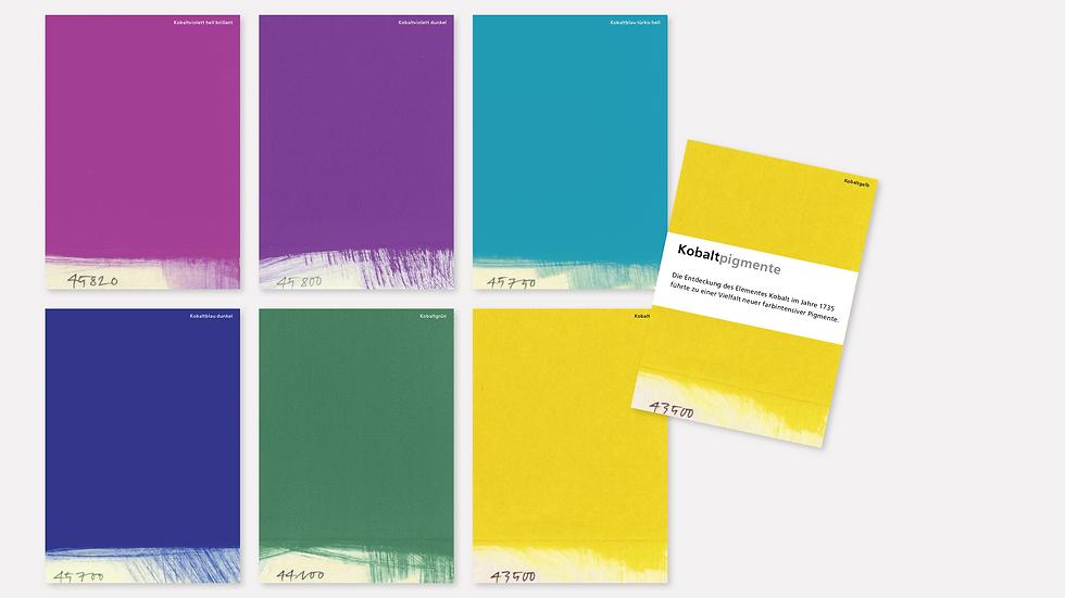 Postkartenset – Kobaltpigmente