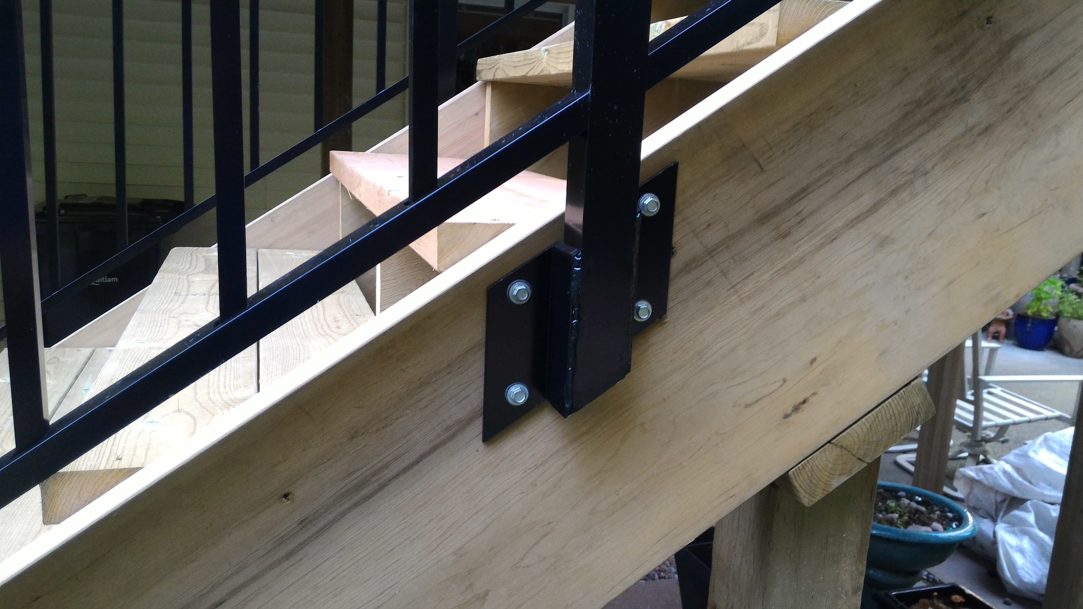 Custom railing brackets