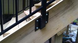 Custom railing brackets