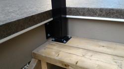 Custom fit railing brackets