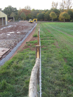 Stock fencing. Chestnut posts (7)