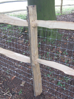 Cleft chestnut post and rail
