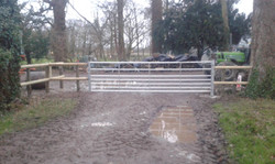 Post & two rail with a 15' gate