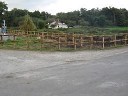 Oak post & rail fencing (14)