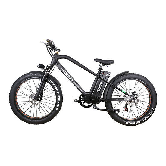 "NAKTO 500W Fat Tire Super Cruise 26"" EBIKE"