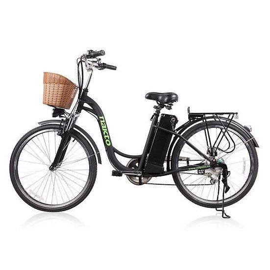 "NAKTO City Electric Bicycle CAMEL Women 26"" Black"