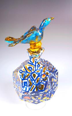 blue bird vase 2