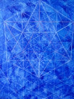 Ultramarine Blue Underpainting Icosa