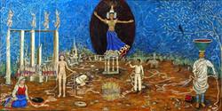 Namagiri of Namakkal Bestowing Upon Ramanujan Mathmatical Truths