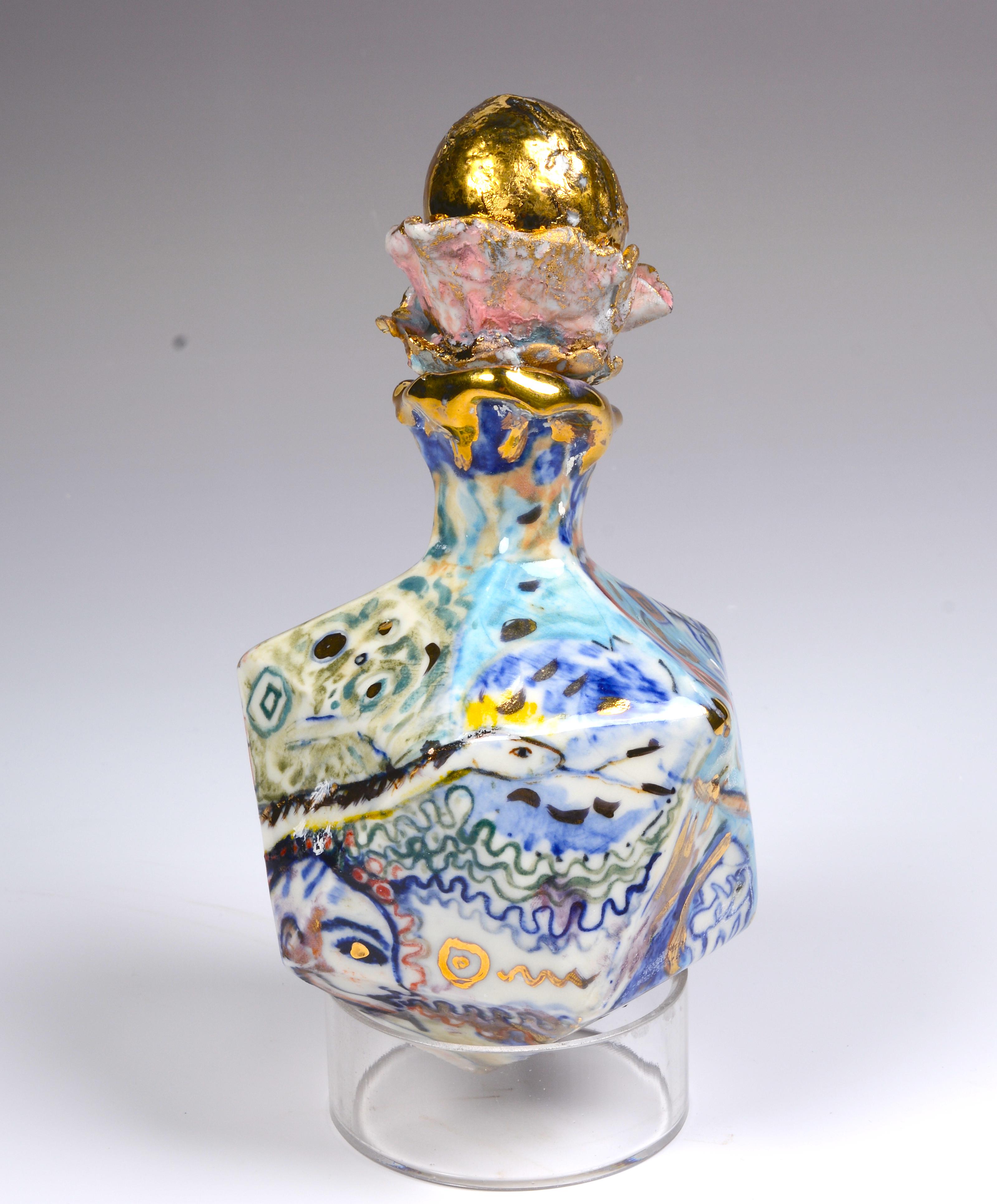 Golden Egg Eden Snake apothecary jar