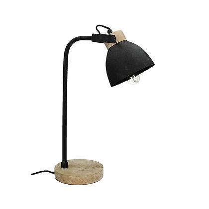 Lampe de Table OXFORD Bois de Manguier / Métal 18x30xH52cm-Noir