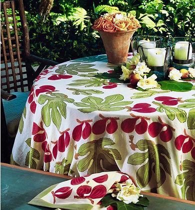 Nappe NATURE Figue Rouge-Vert