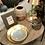 Thumbnail: Lampe de Table VÉNUSE Fer / Eucalyptus 20x30xH55 cm - Or