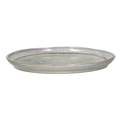 Assiette Plate FLOCON en Grès Dia 26,5cm Taupe -Pomax