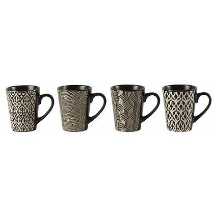 Mug MALINKA Set/4 D8.7x H10.7cm