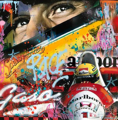 Racing Ayrton (80 x 80 cm)