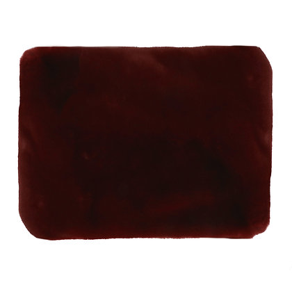 Plaid FLUF Acrylique/ Polyester 120x160cm Rouge Foncé -Pomax