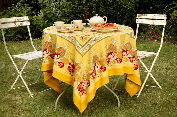 Nappe NATURE Tutti Fruiti -Jaune-Rouge