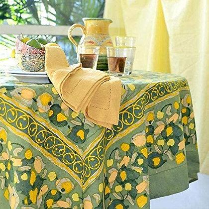 Nappe NATURE Fruit Jaune-Vert