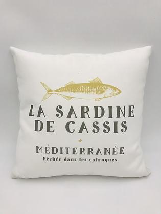 La Sardine de Cassis Blanc  40x40cm