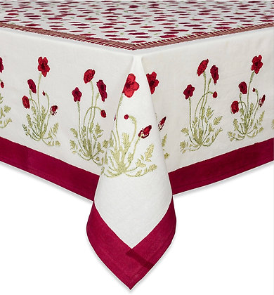 Nappe NATURE Coquelicot Rouge-Vert