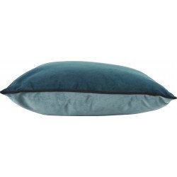 Coussin Rectangle BESTOUAN Velours Jade/ Bleu Canard 50x30cm