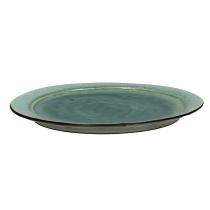 Assiette plate KIMO en grès Dia 27cm Aqua - Pomax