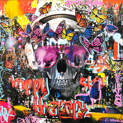 Skull City (50 x 50 cm)
