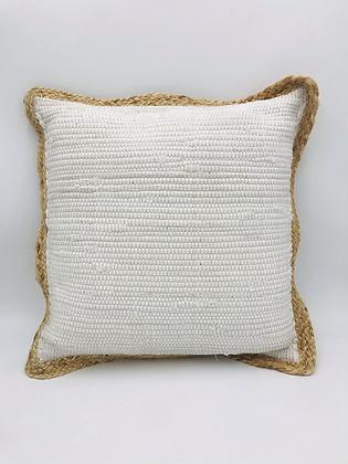Coussin Jute Blanc  45 x 45 cm