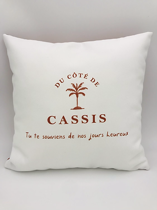 Coussin Cassis Ocre 40x40cm