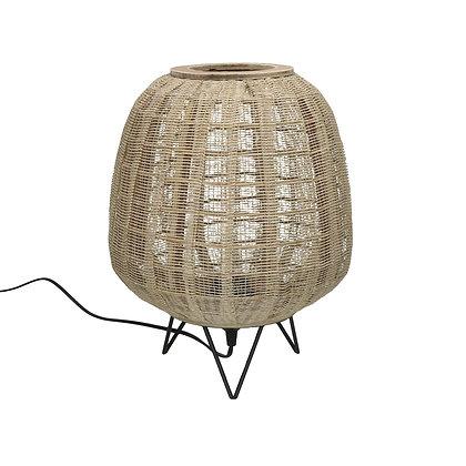 Lampe de Table FIDJI Bambou Dia 35,5 X H43cm - Naturel