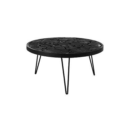 Table d'Appoint BALARAJA Dia 60 X H 30cm Noir
