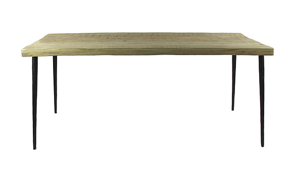 Table NEVADA Bois de Manguier / Métal 180x90xH 77cm