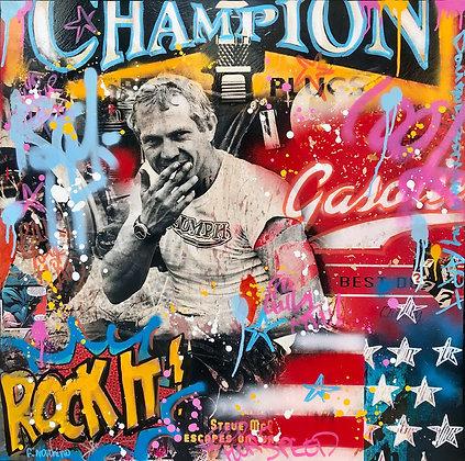 Rock it champion (80 x 80 cm)