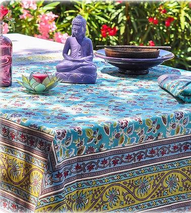 Nappe NATURE Jardin Turquoise - Bleu